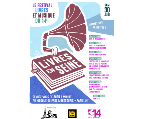 Livres en Seine Tome 3 : Samedi 30 juin au Parc Montsouriss