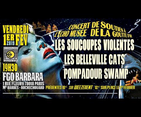 Concert au FGO Barbara le 1 er Février