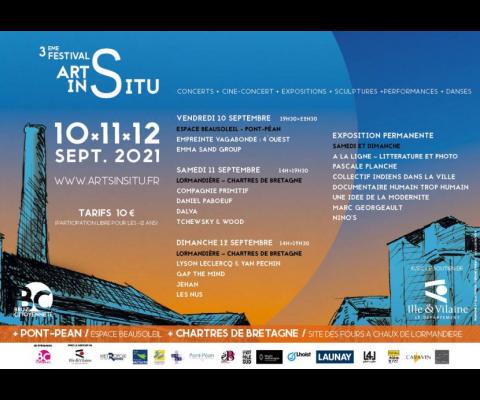Festival Arts In Situ le 10, 11 et 12 septembre