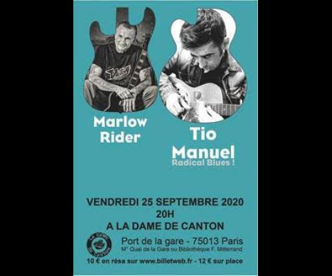Marlow Rider et Tio Manuel en concert le 25 septembre 2020